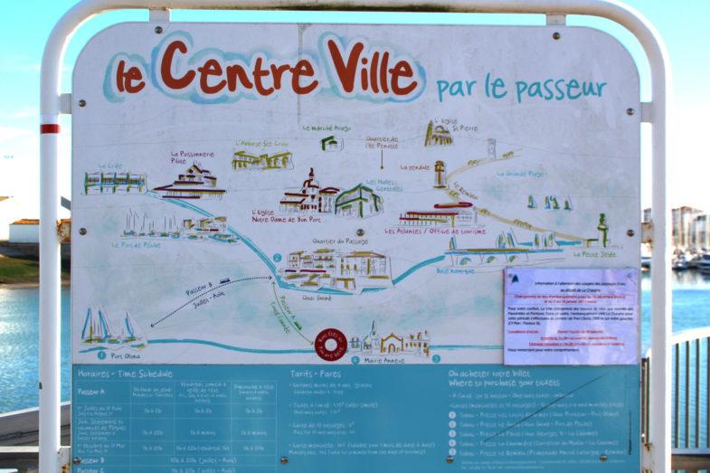 Centre ville des Sables d'Olonne par le passeur